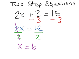 two step equations 1 math algebra simplifying expressions