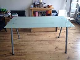 131 ikea galant frosted glass office table silver legs in strathaven ikea galant glass desk dimensions