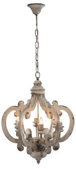 white distressed painted wood 6 light chandelier pendant french country shabby chic custom to paint