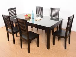 dining table 6 seater glass top tables