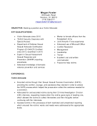 Victim Advocate Resume Examples Magdalene Project Org
