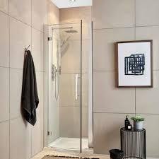 essentials 760mm hinged shower door 8mm glass