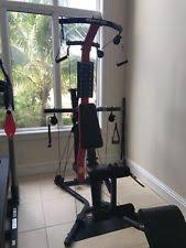 red bowflex pr3000 home gym great condition es with squat bar