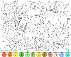 Free Printable Color By Number Pages Coloring Numbers 1 Christmas In