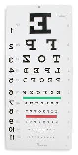 Reverse Letter Eye Chart