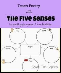 Five Senses Poem Graphic Organizer Teaching Poetry Poetry