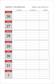 Simple Work Schedule Template Sample Schedule Template 9 Free Documents In Excel