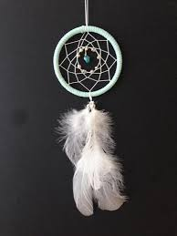 Dream Catcher For Car Mirror Classy Dream Catcher For Car Mirror Baby Blue Turquoise Stone Etsy