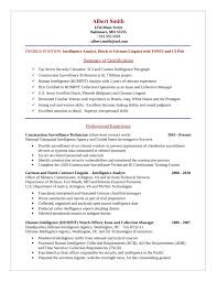 basic intelligence analyst resume template .