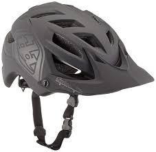 Troy Lee Designs A1 Troy Lee Designs A1 Drone Adult All Mountain Bike Helmet With Tld Shield Logo Black Xlarge 2xlarge