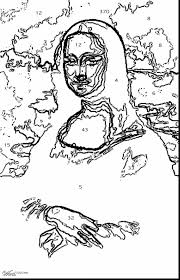 Mona Lisa Coloring Page At Getdrawingscom Free For Personal Use