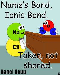 Name's Bond, Ionic Bond. | Bagel Soup | Pinterest | Ionic bond ...