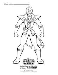 8 Best Power Rangers Samurai Coloring Sheets Images On Pinterest