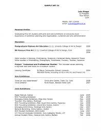 Artist Resume Sample Artist Cv Cover Letter Sample