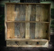 Cupboards Made From Pallets Recycled Pallet Wall Shelf With Knobs My Collection Pinterest