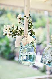 Decorating Mason Jars Vintage Blue Mason Jar Decorating Tablescape Abeachcottage A Life