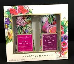 details about crabtree evelyn hand therapy ultra moisturizing gift set rose pineapple fig 100g