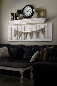 shutter with a shelf above and a bunting by aubrey