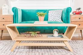 mid century modern coffee table project