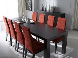 ely image of dining room decoration using red maroon zebra dining chair along with rectangular simple black wood dining table and dining room sets