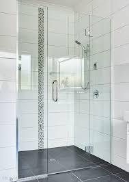 frameless glass shower door alcove shower