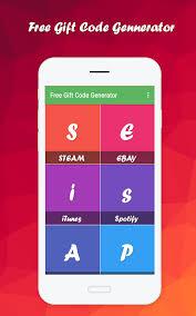 free gift code generator 1 3 screenshot 7