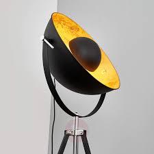 Vloerlamp Zwarte Staande Lamp Lampen Kwantum Industriele Driepoot