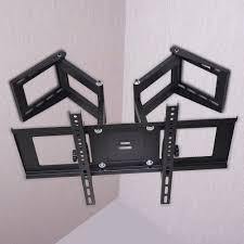 corner flat tilt swivel tv wall mount vesa bracket for samsung lg 37 47 56 65 70 847256052298