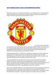 Arti Gambar Kapal Pada Logo Man Chester United