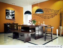 dining room color schemes. Homey Woody Orange Dining Room Color Schemes A