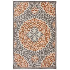 Mohawk Home Tahj Coral Rectangular Indoor Tufted Area Rug (Common: 8 x 10;