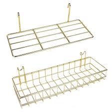 2 pcs wall grid panel basket display