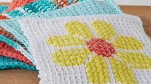 Tunisian Crochet Patterns Unique Tunisian Simple Dish Cloth The Crochet Crowd