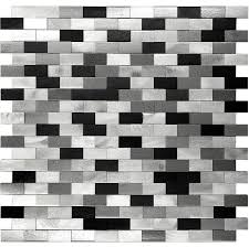 3d metal aluminum black white gray mosaic kitchen backsplash tile modern mosaic tile by backsplash