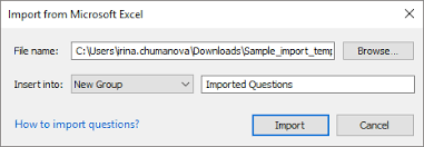 Excel Multiple Choice Test Template Importing Questions From Excel Ispring Quizmaker 9 Ispring Help Docs