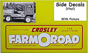 crosley parts suppliers reproduction yellow red lettering farmoroad