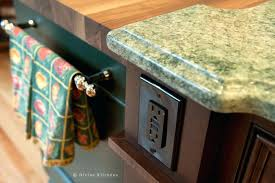 kitchen island close up. Pop Up Electrical Outlet Kitchen Island Close Carlon For