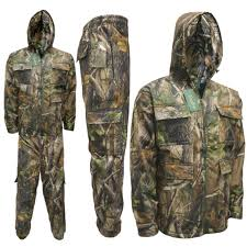Mens Jungle Water Proof Suit Jacket Trousers Fishing Coat Realtree Safari M 6xl