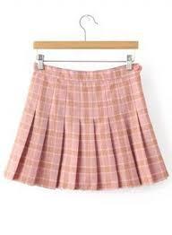 Pleated Skirt Pattern Best Women's Fashion Plaid Pattern Pleated Mini Skirt Day Dress