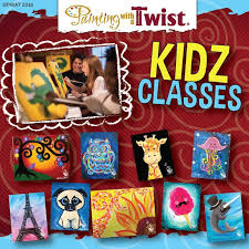 kidz cl are so much at painting with a twist