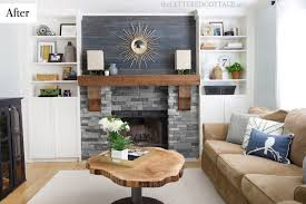 Rustic Modern Contemporary Living Room The Lettered Cottage Blog Fireplace Makeover Barnwood Wall3