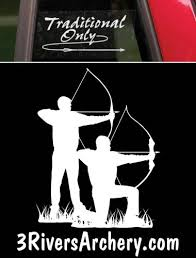 Traditional Archery 3Rivers Window Decals