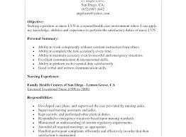 Lvn Resume Cover Letter Resume Template Example Sample Cover Letter