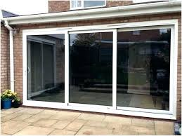 triple sliding patio doors cost track best ing a strip aluminium