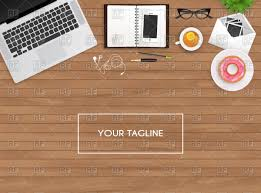 wooden desk top view. Brilliant View Workplace  Laptop And Personal Organizer On Wooden Table Top View Vector  Image U2013 Click To Zoom In Wooden Desk Top View S