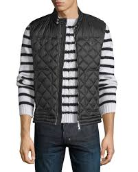 Black Quilted Vest | Neiman Marcus & Quick Look. Moncler · Rod Quilted Nylon Moto Vest, Black Adamdwight.com