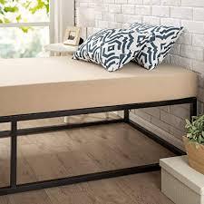 "Zinus Joesph Modern Studio 14 Inch Platforma Bed Frame / Mattress Foundation in Narrow Twin / Cot size / 30"" x 74.5"" / Box Spring Optional / Wood ..."