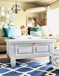 Coffee Table Painting How To Paint Furniture With A Car Wash Sponge Refunk My Junk