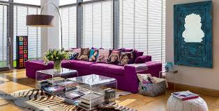 quirky living room furniture. The Purple Sofa Was Custom-made, While Arched Floor Lamp Is From Maison Quirky Living Room Furniture