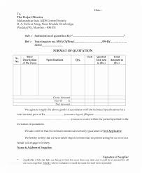 Quotation Letter Sample In Doc